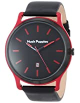 Hush Puppies Men's HP.3799M.2528 Freestyle Black Ion-Plated Coated Stainless Steel Case Red Aluminum Frame Watch