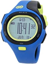 Soleus SR008452 P.R. Grey Digital Dial with Blue and Black Polyurethane Strap Watch, Men's