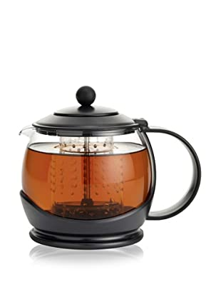 Bonjour Coffee & Tea Prosperity Teapot with Shut-off Infuser, Black