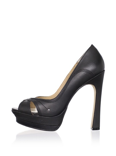 MaxStudio Women's Radley Peep-Toe Pump (Black)