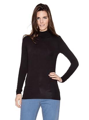 Naf Naf Camiseta Lisa (Negro)