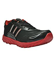 Rts Men's Black-Red Synthetic Sports Shoes