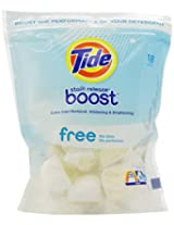 Tide Boost Free Duo Pacs In-Wash Booster 18 Count (Pack of 4)