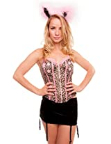 Under Cover Lingerie Cat Costume (Black, Free Size)
