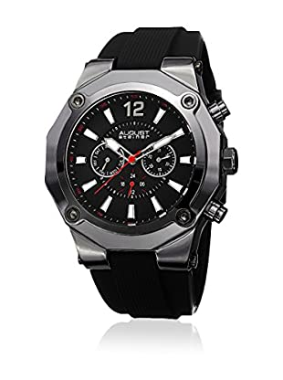 August Steiner Reloj con movimiento cuarzo suizo Man AS8080BK BlackStandard