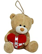 Archies Soft Toy Bear Hanging with Hook, Multi Color (14cm)