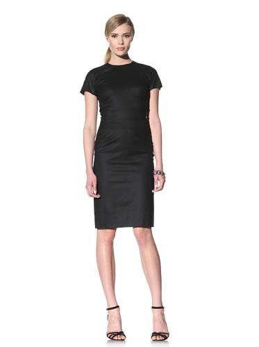 Luciano Barbera Women's Wool Sheath Dress (Black)