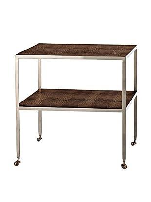 Arteriors Home Freud Table, Chocolate/Gray