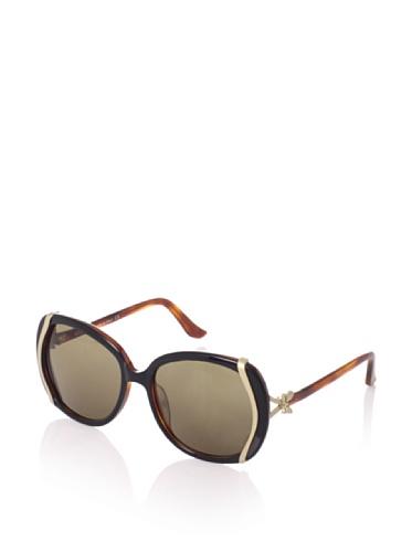 Moschino Women's MO616-03 Sunglasses, Black/Tortoise