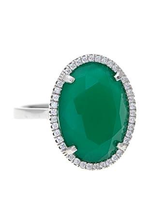 Córdoba Joyeros Anillo Priveé Diamantado & Piedra Verde