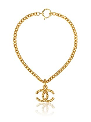 CHANEL Textured Medium Logo Necklace