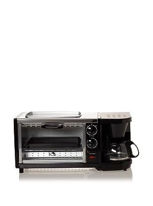 Kalorik Breakfast Set 3 in 1 Coffee Maker/Oven/Griddle (Stainless/Black)