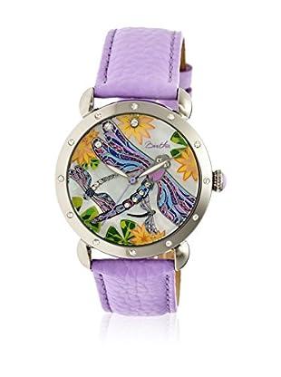 Bertha Uhr mit Japanischem Quarzuhrwerk Jennifer lila 41 mm