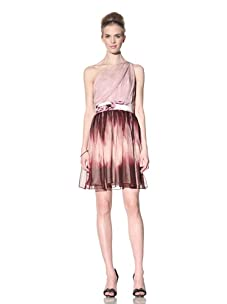 Bensoni Women's One-Shoulder Multi-Print Dress (Flame Print)