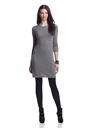 Cashmere Addiction Women's Crew Neck Sweater Dress (Cloud)