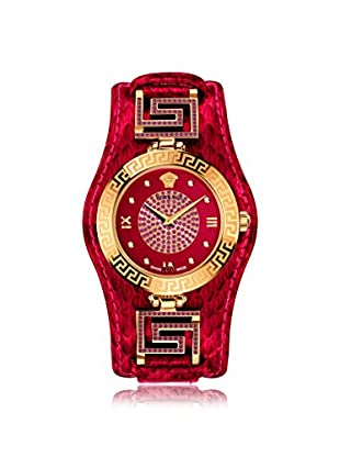 Versace Women's VLA110014 V-Signature Red Leather Watch
