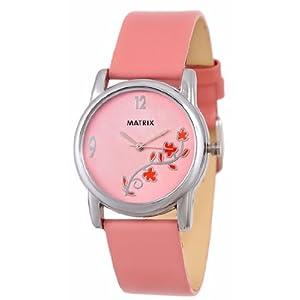 MATRIX Analog Pink Dial Women's Watch-WCH-PK-FLW