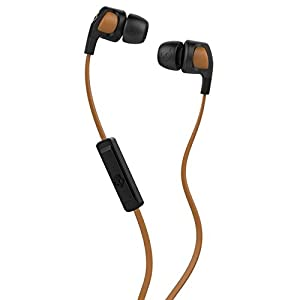 Skullcandy S2PGGY-341 All New Colorful and Trendy Smokin' Buds 2 with Mic1 Earphones/Earbuds Stereo Headphone - tan / black.