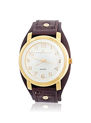 VIANOVA Women's NWL290128G-BR Brown/White Leather Watch
