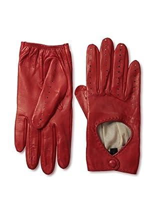 Portolano Women's Silk-Lined Driving Gloves (Ferrari Red)