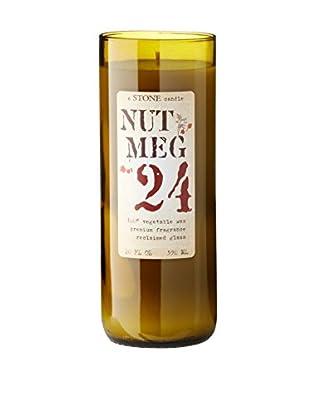 Stone Candles 20-Oz. Reclaimed Wine Bottle Candle, Nutmeg Vanilla