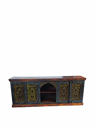 MOTI Historic 4-Carved Door Plasma TV Stand/Buffet