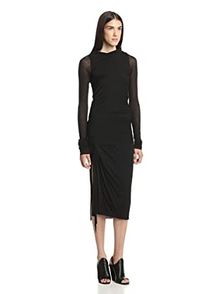 Rick Owens Lilies Women's Draped Boatneck Top (Black)