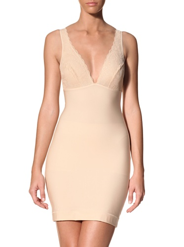 Nearly Nude Women's Slip With Lace (Toasted Almond)