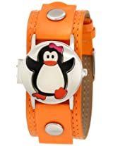Frenzy Kids' FR319 Penguin Analog Watch with Orange Band