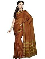 Aadarshini Women's Cotton Saree (110000000091, Light Brown)