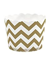 Dress My Cupcake Chevron Party Candy Cups, Set Of 24, Gold