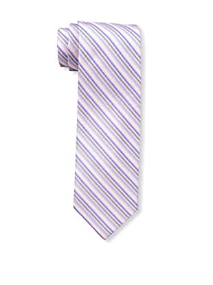 Bruno Piattelli Men's Stripe Silk Tie, Pink