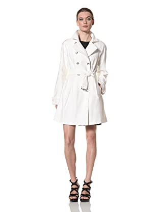 Jane Post Women's Spring Trench (Ivory)
