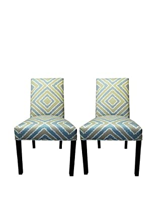 Sole Designs Straight Back Pair of Dining Chairs, Nouveau Capri