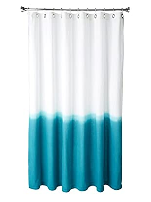 Nine Space Dip-Dye Shower Curtain, Teal