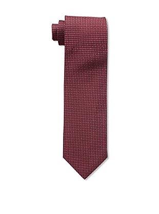 Bruno Piattelli Men's Rope Locks Silk Tie, Red Black