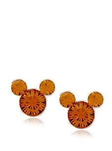 Disney Mickey November Birthstone Earrings, Silver