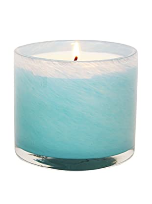 Alassis Set of 4 7.5-Oz. Art Glass Candles, Seagrass Musk, Sky Blue