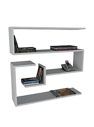 Dekorister Bücherregal Conifier weiß 22x90x87cm