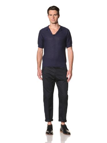 Camo Men's Pietro Micca Knit Polo (Navy)