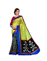 DivyaEmporio Women's Traditional Georgette Saree/Sari with Unstitched Blouse (Free Size)