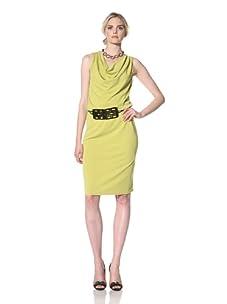 Natori Women Sleeveless Dress with Horn Belt (Key Lime)