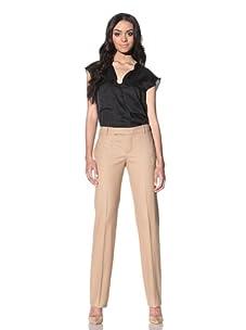 Chloé Women's Straight Leg Wool Pants (Beige)