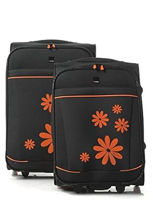 H.Due.O Set Trolley Hippy Flowers Arancio