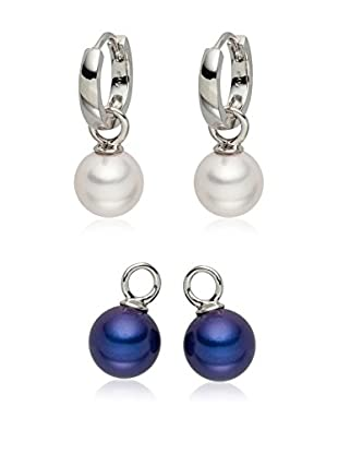 Nova Pearls Copenhagen Pendientes  plata de ley 925 milésimas / Azul