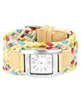 Ashiana Multi coloured Braided Bracelet Style Watch