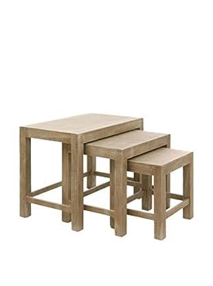 J-LINE Tisch 3 tlg. Set grau