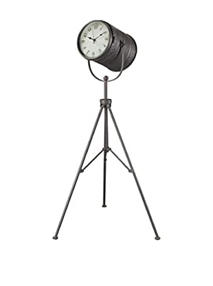 Artistic Fallon Standing Clock, Antique Pewter