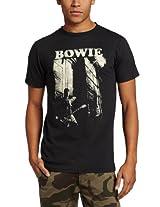 Impact Merchandising Men's David Bowie Guitar T-Shirt, Coal, Large