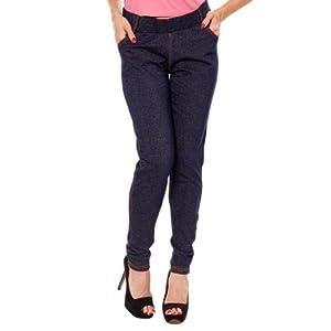 Softwear Dot Denim Blue 4 Pocket Jeggings